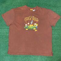 "Vintage Peanuts ""It's The Great Pumpkin Charlie Brown"" Brown Graphic Tshirt - M"