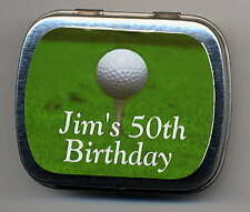 6 Golf Themed Party Favors Mint Tins