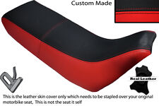 BLACK & RED CUSTOM FITS YAMAHA XT 660 Z TENERE 3YF OLD SHAPE LEATHER SEAT COVER
