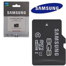 Scheda MicroSD originale SAMSUNG 8GB UHS-1 PRO micro sd Extreme Speed Nuova
