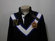 Polo Ralph Lauren Mens Shirt M Equine Crest Fleece Slim Fit V Chevron Black $165