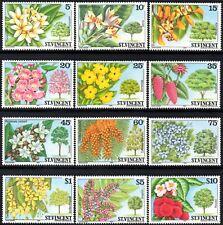 St.Vincent 1984 Caribbean Flowering Trees Set of 12  SG.764/775 Mint (MNH)