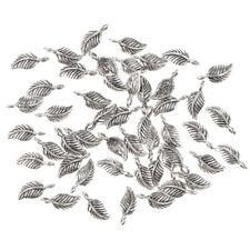 50pcs Wholesale Blatt Charme hängende kleine Perlen Einzelhändler lose