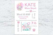 Personalised Baby Girl Nursery Decor Wall Art, Print A4 or Digital File
