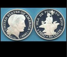 1899 Morgan PATTERN for PUERTO RICO 60 cent PATRON Silver Peso 1/200