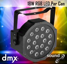 18 W RVB LED par peut lumière DMX affichage numérique du son auto DJ Disco Party étape