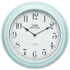 Kitchencraft Living Nostalgia Analogue Wall Clock, Vintage Blue, 25.5cm (10 -