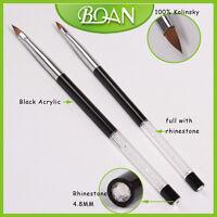 BQAN 1PC Salon Sculpture Nail Art Design Pure Kolinsky Nail Art Brush Tool 2#