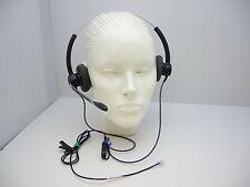 Plantronics SP12 Duo Headset for Mitel Avaya Polycom Toshiba Hybrex NEC Aspire