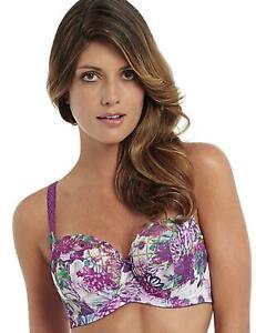 Panache Floris Balcony Bra 7311 Underwired Non-Padded Womens Bras Purple Floral