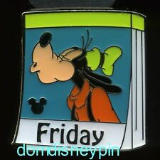 Disney Pin HKDL 2013 Hidden Mickey Series *Daily Calendar* Friday Goofy!