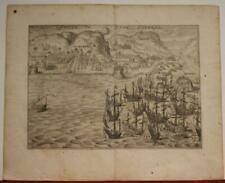 GRAN CANARIA SPAIN 1615 JAN JANSZOON ORLERSA UNUSUAL ANTIQUE COPPER ENGRAVED MAP