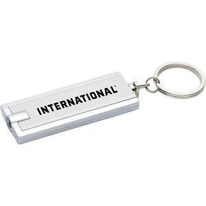 International Trucks Silver Slim Keychain Ring with Bright LED Light