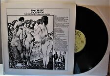 """ROXY MUSIC """"FOOLPROOF"""" VINYL LP (UNOFFICIAL RELEASE TAKRL 1977; USA)  M-"""