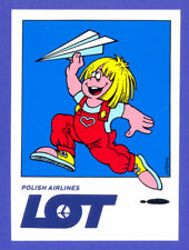 LOT Polish Airlines Advertising LOGO Label Sticker