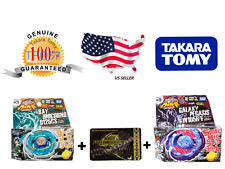 Takara Tomy BB71 Ray Unicorno D125CS + Bey Point Card + BB70 Galaxy Pegasus