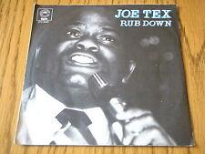 """JOE TEX - RUB DOWN     7"""" VINYL PS"""