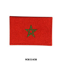 MOROCCO National Flag Embroidered Patch Iron on Sew On Badge For ClotheS etc