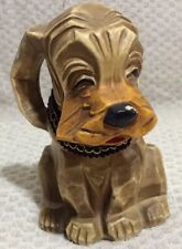 Hound Dog Figure w-Long Ears Napcoware 6915 Coin Bank-Composite Material Vintage