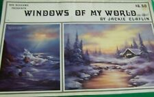 JACKIE CLAFLIN WINDOWS OF MY WORLD V1 1987 SCHEEWE OIL LANDSCAPES TOLE PAINT