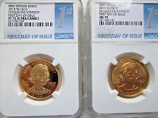 2015 JACQUELINE KENNEDY-W $10 GOLD FIRST SPOUSE  NGC PR70 PF70 MS70 2-Coins