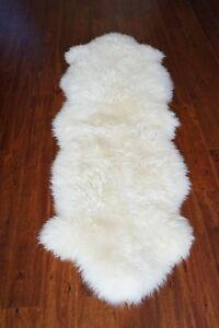 Authentic Australia Sheepskin 100% fur ivory home decoration carpet rug 2.8x6ft