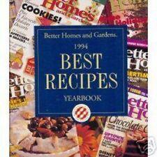 Better Homes+Gardens 1994 Best Recipes Cookbook Yearbk ++++