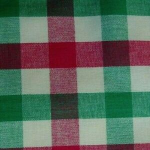 Green Pink Plaid Cotton Pocket Square