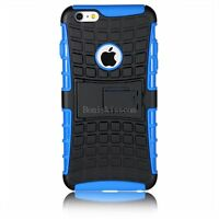 Hybrid Armour Case Robot Soft Black Blue Shell Cover for Apple iPhone 6 plus