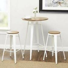 Pub Table Set 3 Piece Bar Height And With Stools Bistro Indoor Kitchen Dining