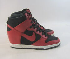 Nike Dunk Sky Hi 528899 016 Womens Laced Leather & Suede Wedge Train size 7.5 p
