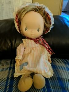 "Vintage 14"" Baby Ann Lap Sitter Doll bonnet"