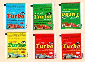 TURBO 6pcs. bubble gum, chewing gum wrappers