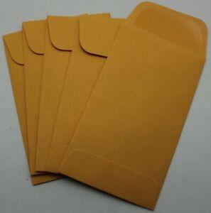 Kraft #3 Gummed Coin Envelopes 4¼ x 2½ - 50, 100, 250, 500, 1000 - 4.25 x 2.5