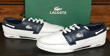 LACOSTE Dreyfus Men's Leather Sneakers Boat Shoes US 9 New/Minor Imperfections