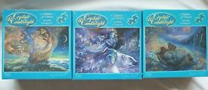 3 Crystals & Candlelight Glitters and Glows Puzzle 750 Josephine Wall NIB