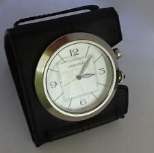 Cartier, Paris: Vintage Travel Alarm Clock with Leather Case