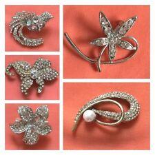 1 Pc Stunning Diamonte Stone work Assorted  Metallic  Brooch Hair Clip Pin Clips