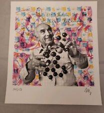 "Tim Jordan signed ""Albert Hoffman"" Blotter Art print psychedelic art print ltd"
