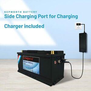 12V 120Ah Lithium Batterie LiFePO4 BMS tiefer Zyklus Mit Ladegerät Solar Akku