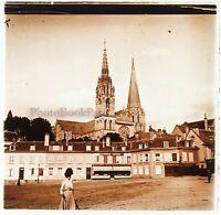 Francia Chartres Foto Stereo PL46Th5n Placca Da Lente Vintage