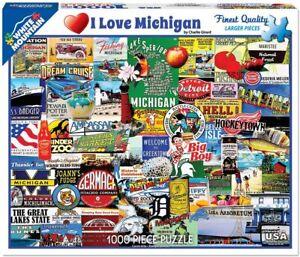 I Love Michigan 1000 Piece Jigsaw Puzzle 760mm x 610mm (wmp)