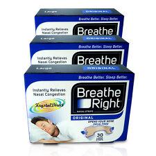 3x Breathe RIGHT Nasal Strisce 30 marrone chiaro originale grande