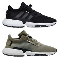 adidas originals POD S3.1 Boost Black Green Mens Trainers Sports Running Shoes