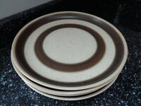 DENBY RUSSET DINNER PLATES X 4 - EXCELLENT