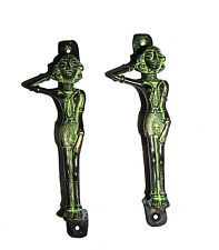 A pair Attractive Brass made Unique LADY Shape DOOR HANDLES from India