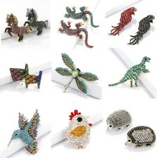 Fashion Crystal Rhinestone Lizard Horse Dinosaur Hedgehog Dog Brooch Pin Jewelry