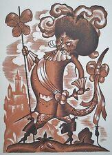Lucien BOUCHER (1889-1971) 20er Jahre Farbholzschnitt - Der gestiefelte Kater
