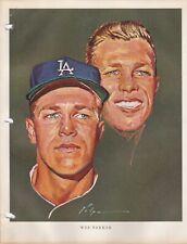 1964 Union 76 Nicholas Volpe Print Wes Parker Portrait - Los Angeles Dodgers