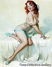 Vintage Redhead Pin-up Girl - Giclee Photo Print